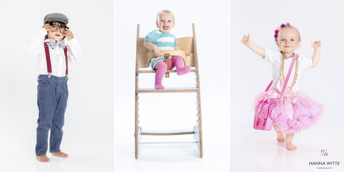 Niedliche Online-Werbefotos mit Kindern