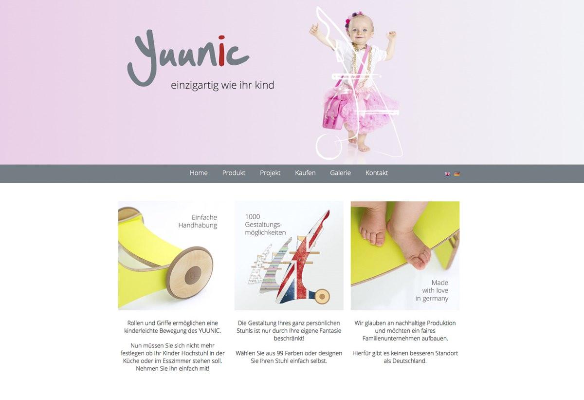 Online-Werbefotos mit Kindern für eine Website