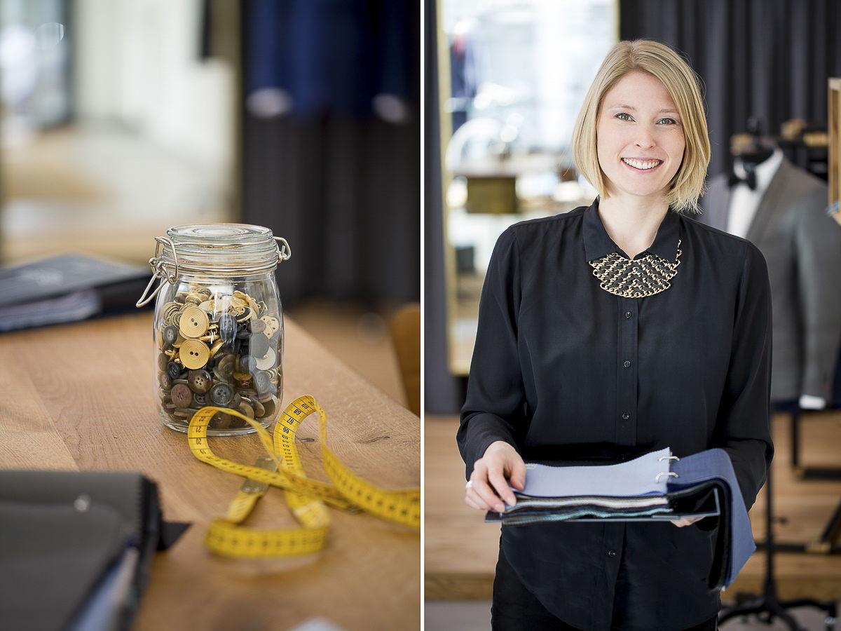 Business Portrait einer Maßschneiderin