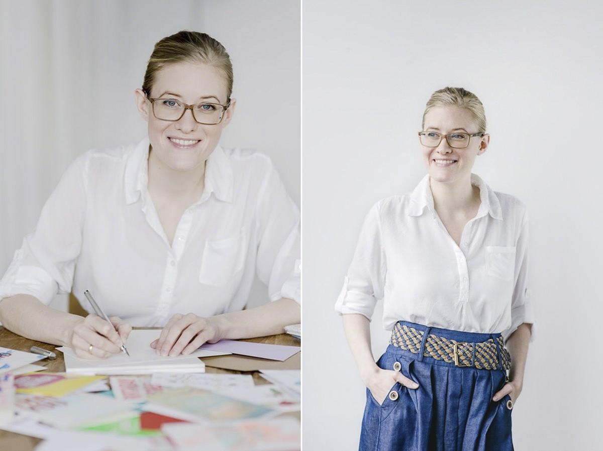 modernes Businessportrait einer jungen Unternehmerin