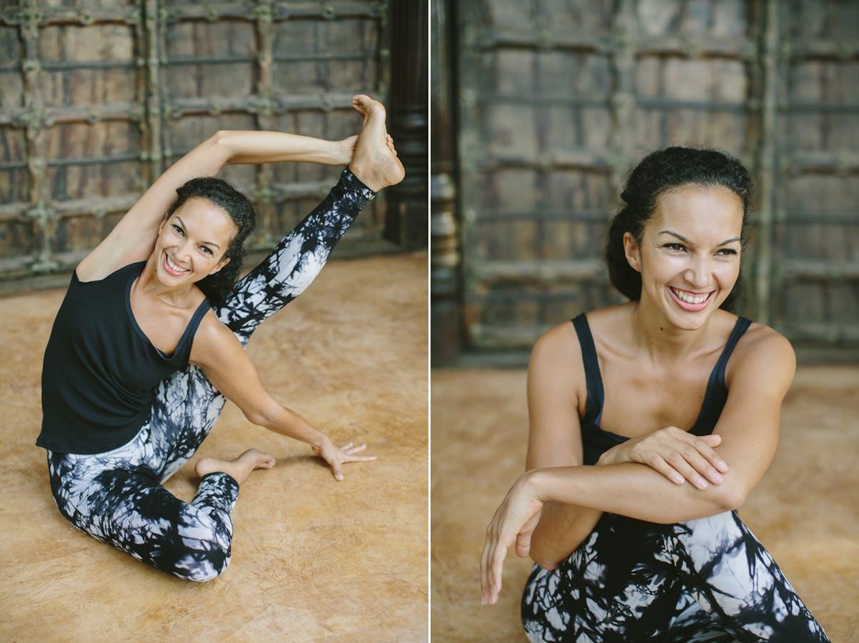 stunning yoga portrait image
