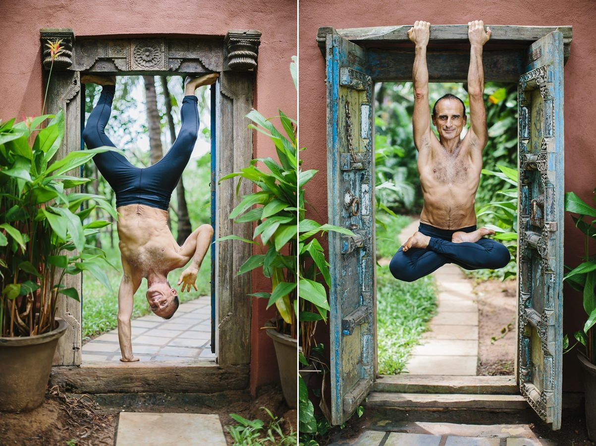 Funny yoga pictures of yoga instructor Simon Borg Olivier