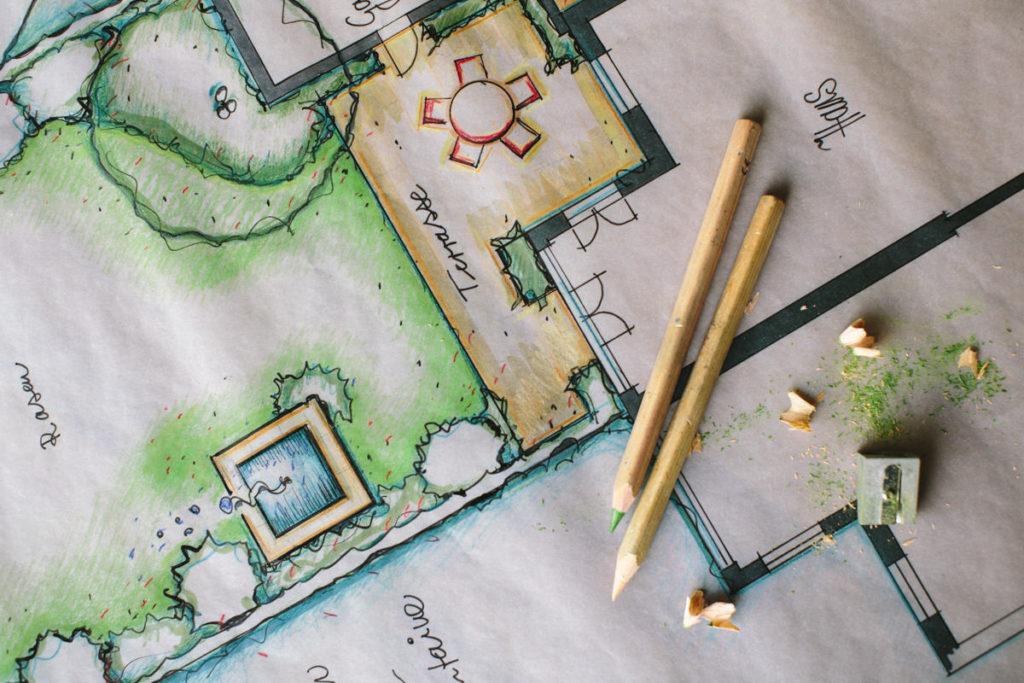 Foto von der Zeichnung eines Landschaftsarchitekten | Foto: Hanna Witte