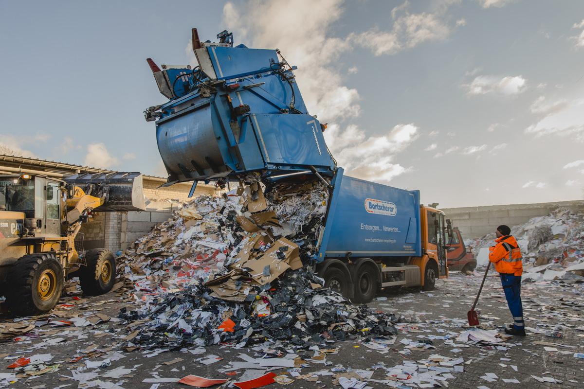 Industriefotografie der Arbeitsabläufe der Abfallwirtschaft Bartscherer aus Berlin
