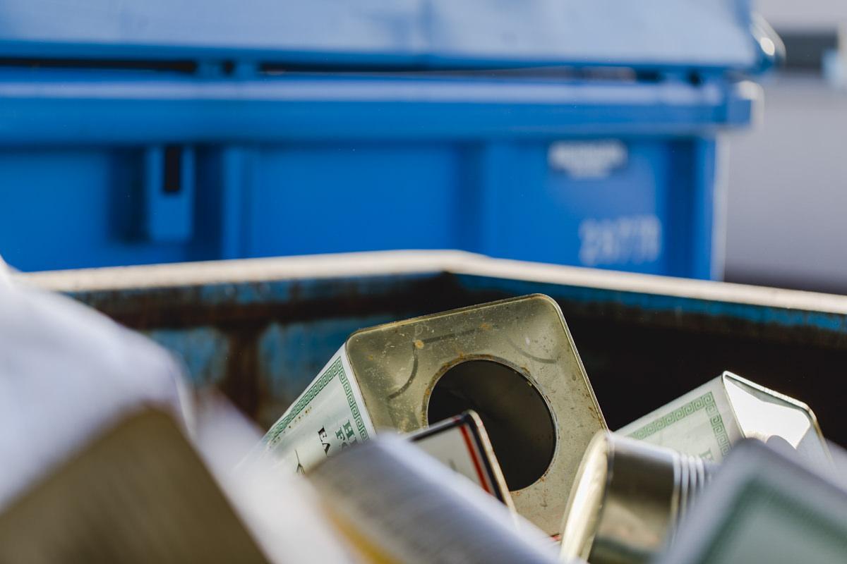 Industriefotografie vom Abfall einer Abfallwirtschaft in Berlin