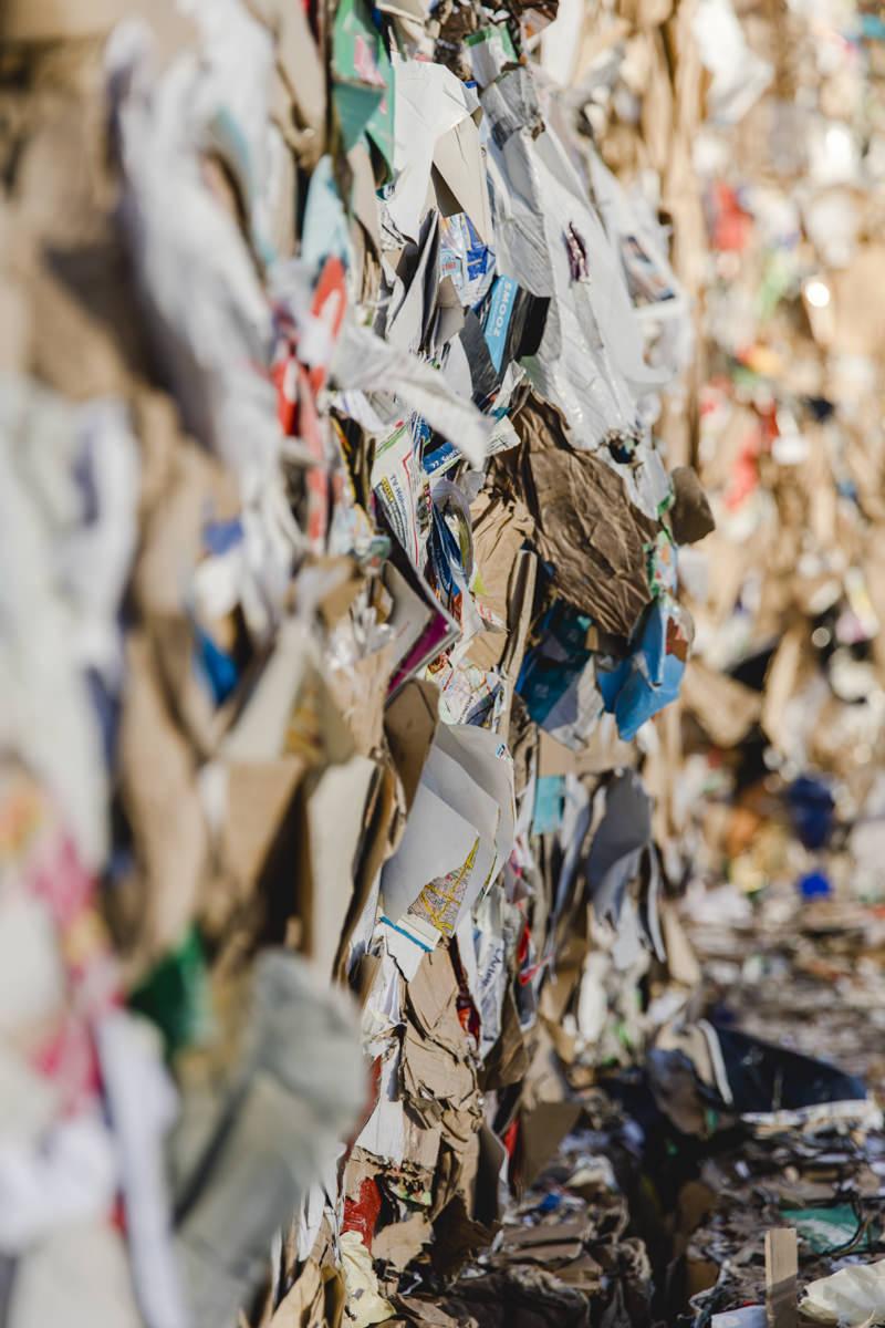 Industriefotografie vom Abfall eines Recycling Unternehmens aus Berlin