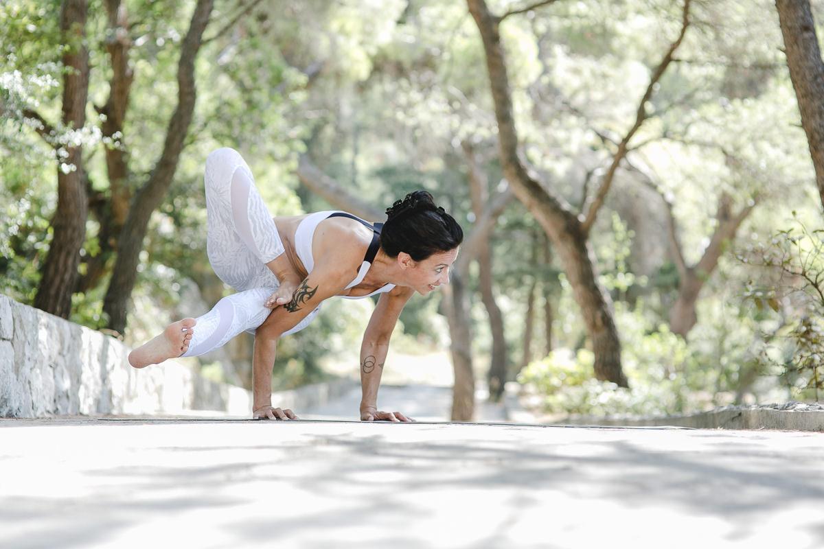 Yoga Portrait Foto von Yoga Lehrerin Andrea Sauter