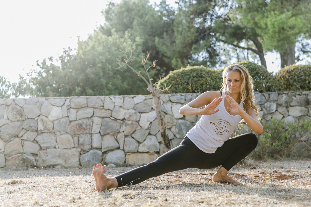 Yoga Portrait Foto von Yoga Lehrerin Eva Klein