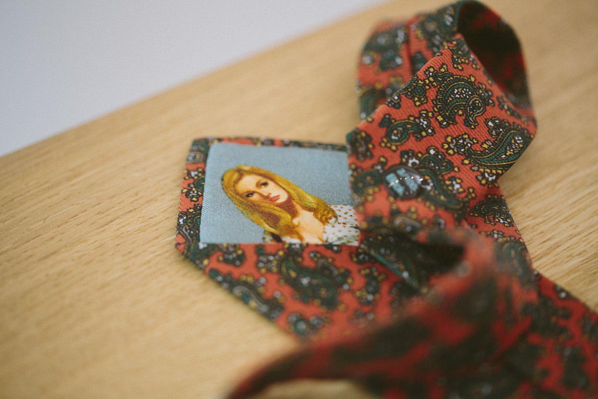 Foto einer ausgefallenen Krawatte der The Bloke Filiale in Düsseldorf