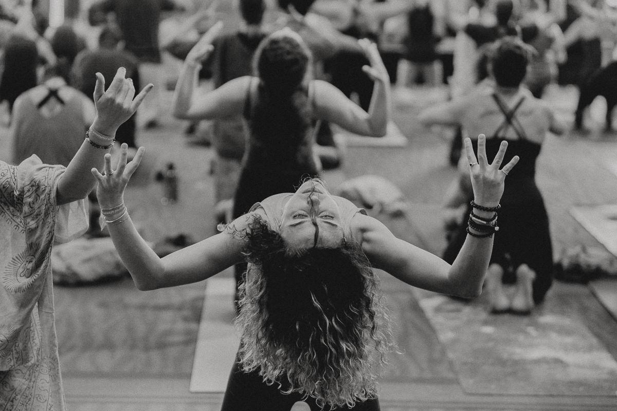 Eindrücke eines Yoga Workshops während der Yoga Conference Germany 2018
