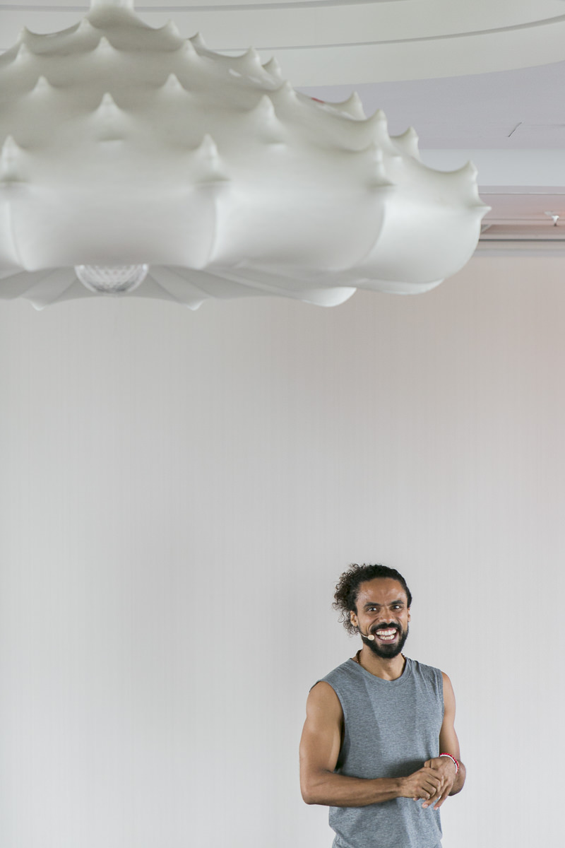portrait of yoga teacher Mathieu Boldron during the yoga conference germany