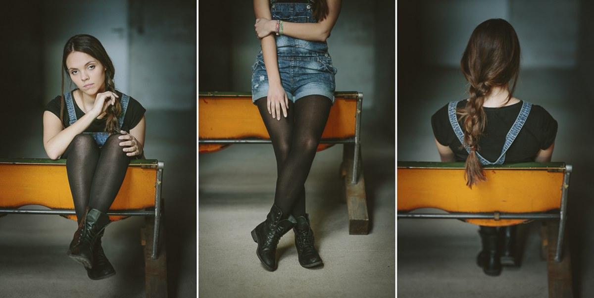 Portraitfoto einer jungen Frau aus drei verschiedenen Perspektiven | Foto: Hanna Witte