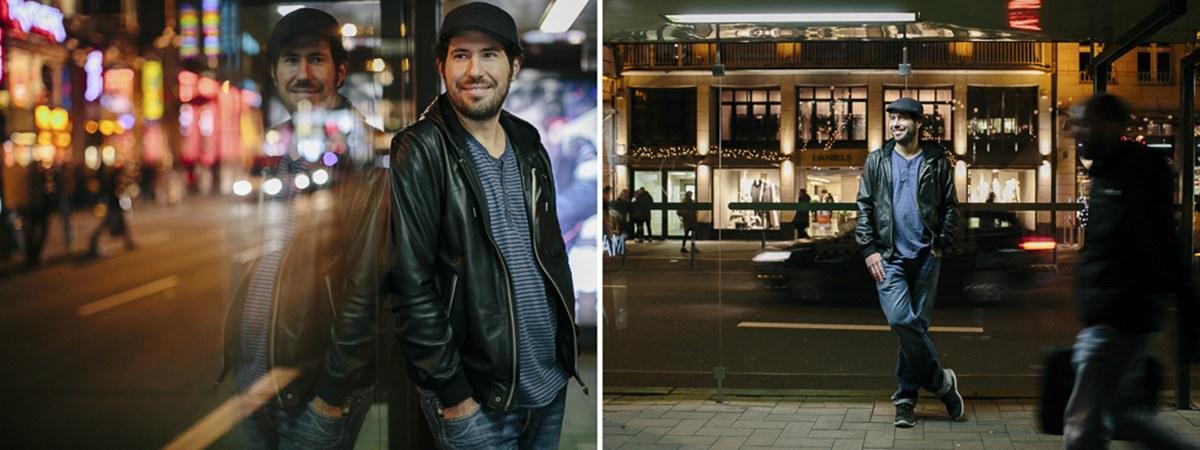 Portraitfotos von DJ Markus Rosenbaum auf einer Straße | Foto: Hanna Witte