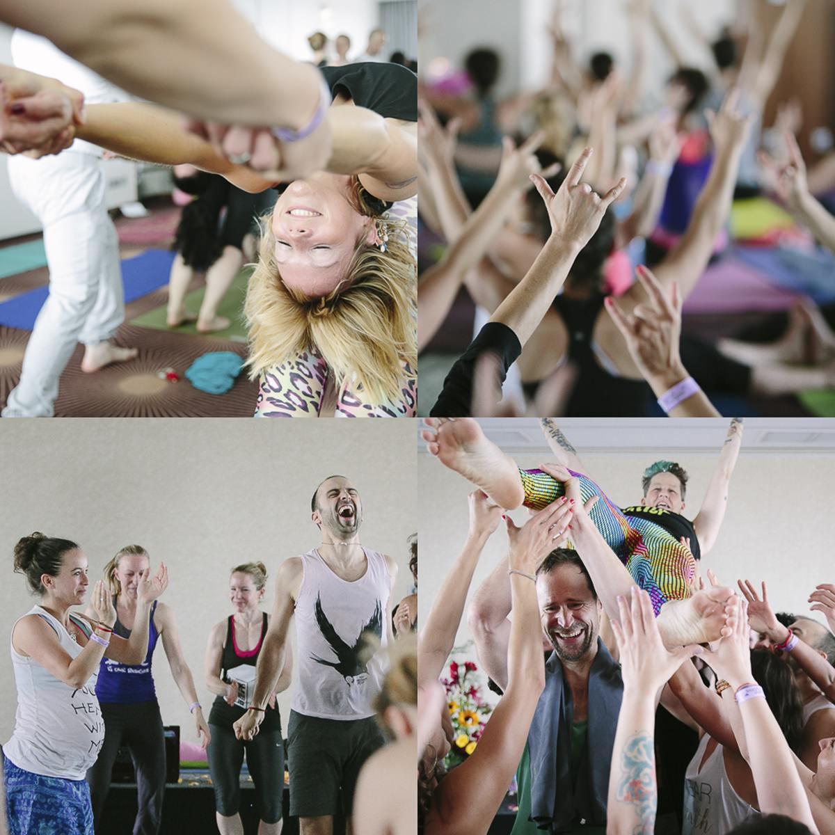 Bildcollage von Kursteilnehmern der Yoga Conference Köln 2015 | Foto: Hanna Witte