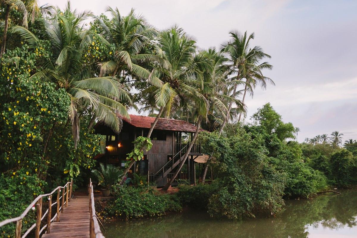 Foto einer Hütte zwischen Palmen in Goa | Foto: Hanna Witte