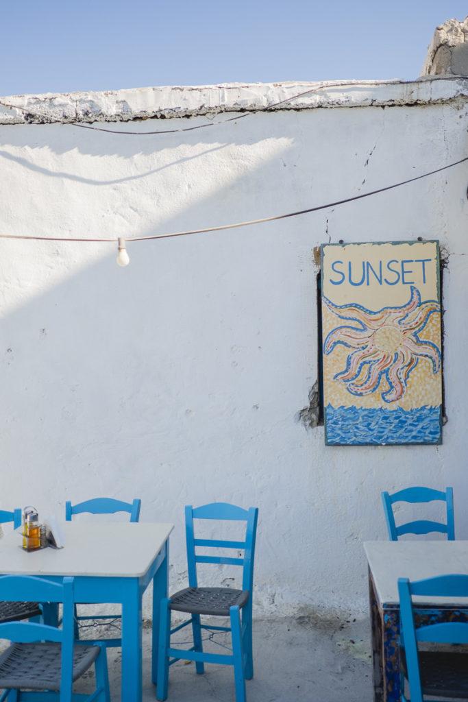 authentisches Foto eines Cafés auf Kreta | Foto: Hanna Witte