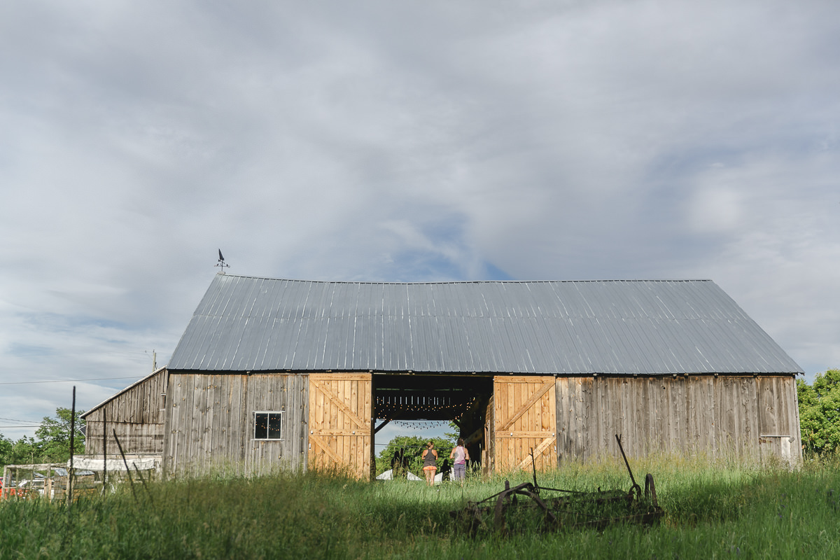 Barn from the location of the Groove Yoga Festival in Canada