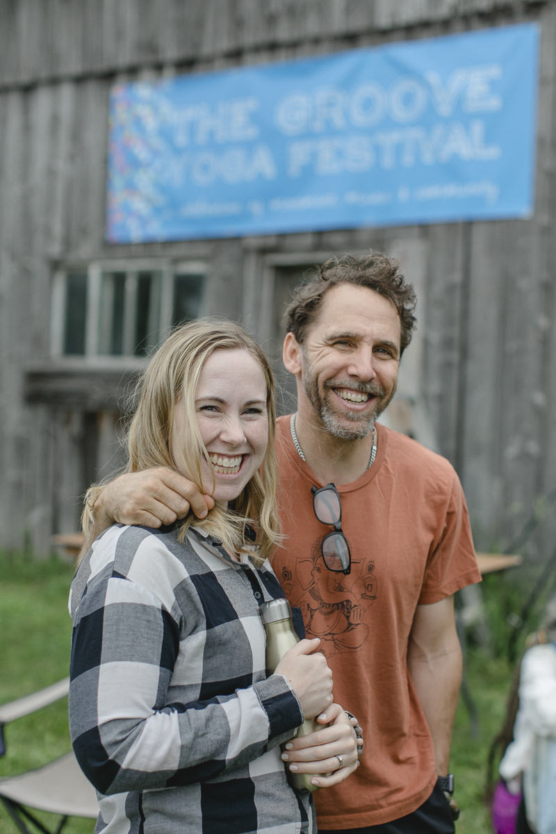 beaming attendees of the Groove Yoga Festival in Canada