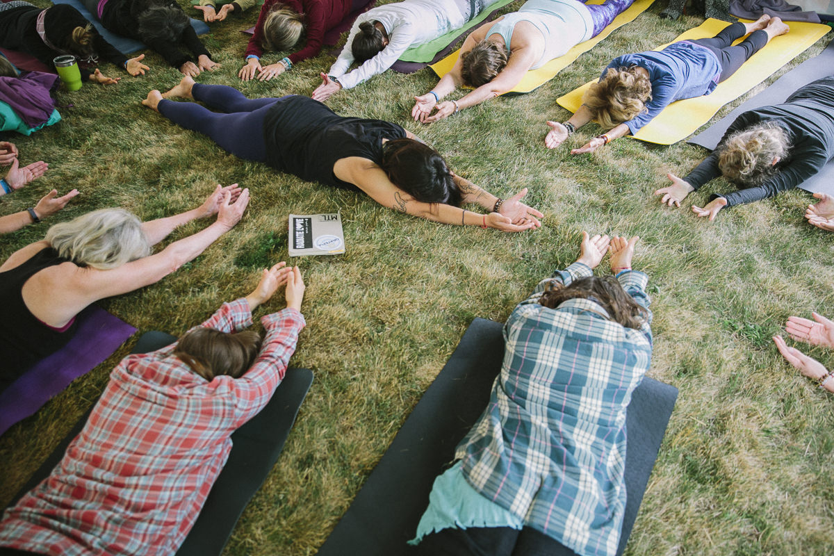 Yoga class during the Groove Yoga Festival in Canada
