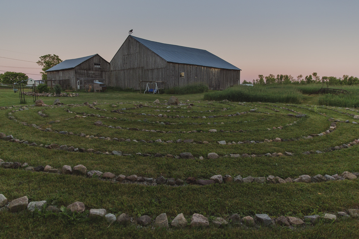 Farm in Ontario Canada where the Groove Yoga Festival took place