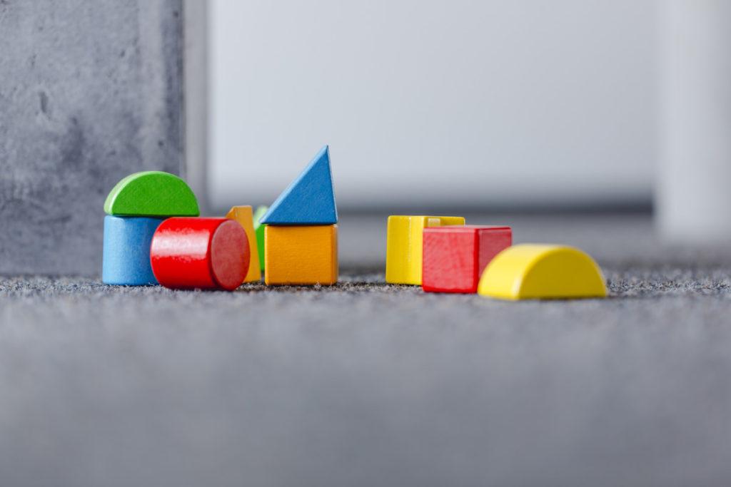 Bauklötze als Unternehmensfoto für einen Babyfachmarkt
