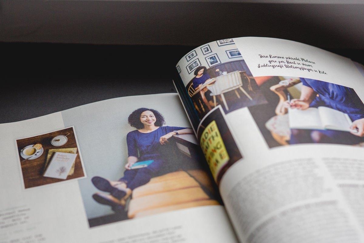 Portraitfotos von Schriftstellerin Melanie Raabe im Flow Magazin