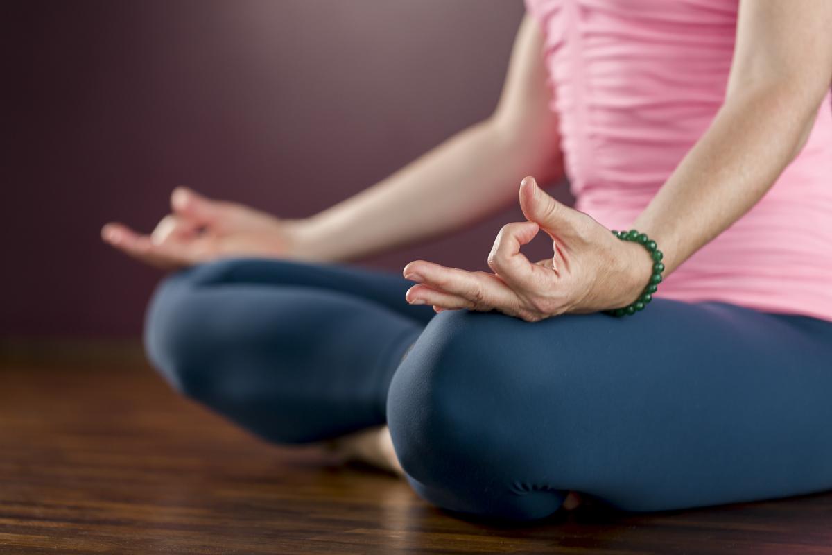 Nahaufnahme Meditations-Position