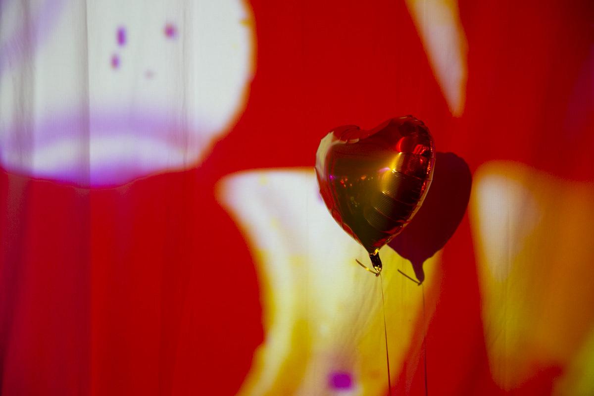 Herzballons auf der Yoga Conference Germany 2019 in Köln