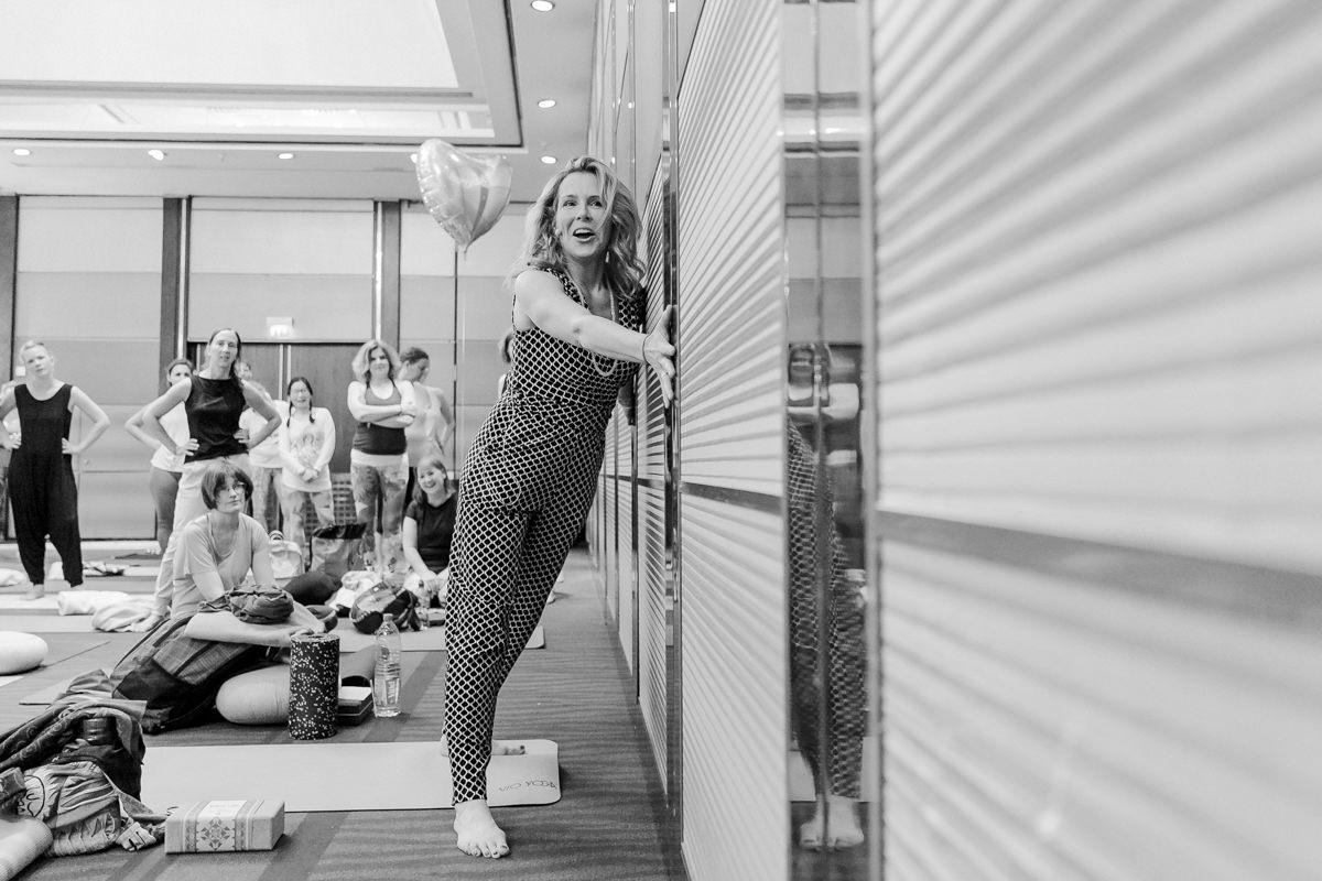 Yoga Lehrerin Andrea QBI Kubasch auf der Yoga Conference Germany 2019 in Köln