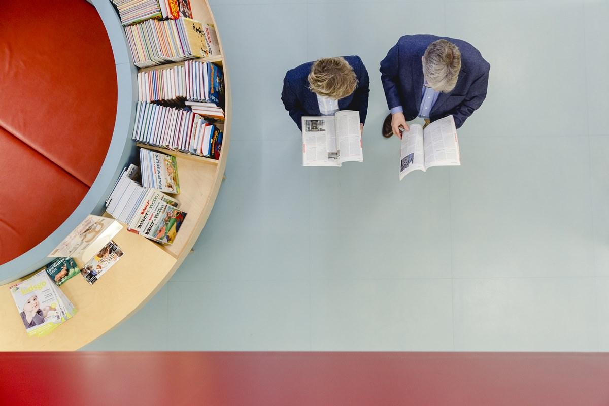 Portraitfoto von oben von Jakob Schüller und Dr. Hannelore Vogt für das Klaaf Magazin