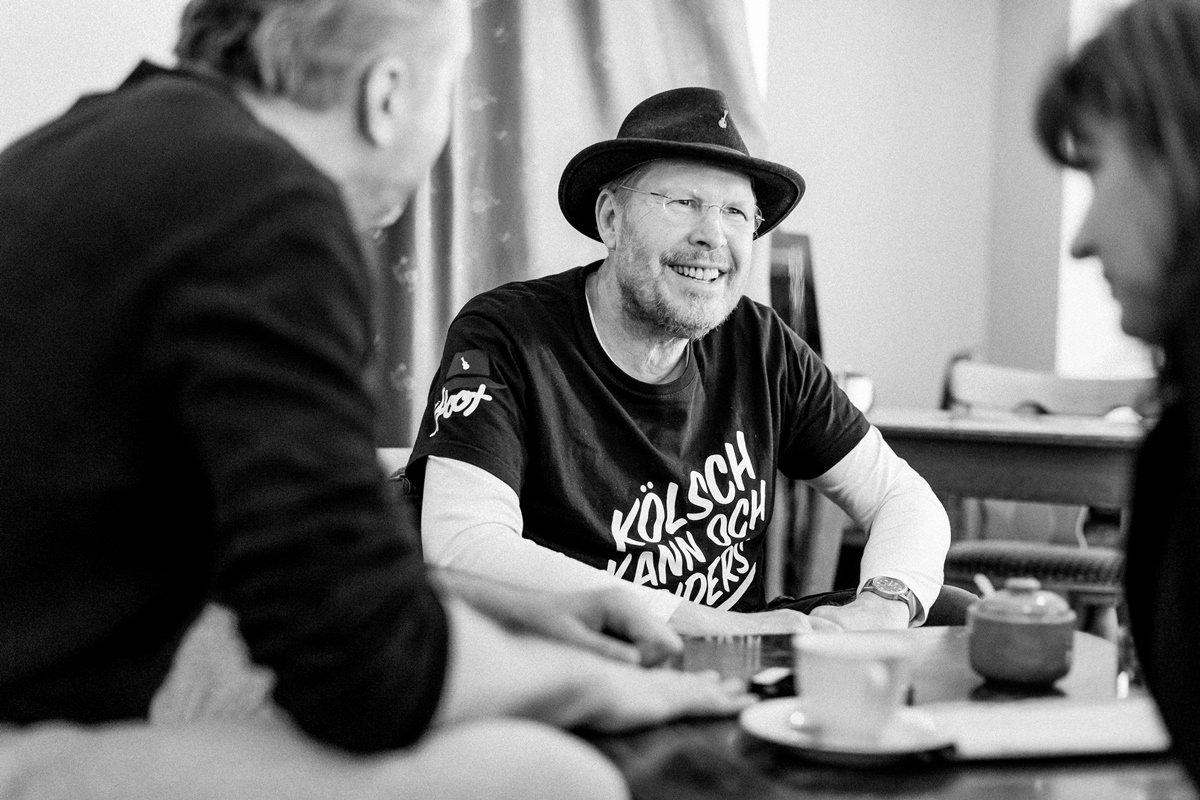 Interviewfoto der Kölner Musiker Franz Martin Willizil und Martin Bechler im Gespräch mit dem Klaaf Magazin