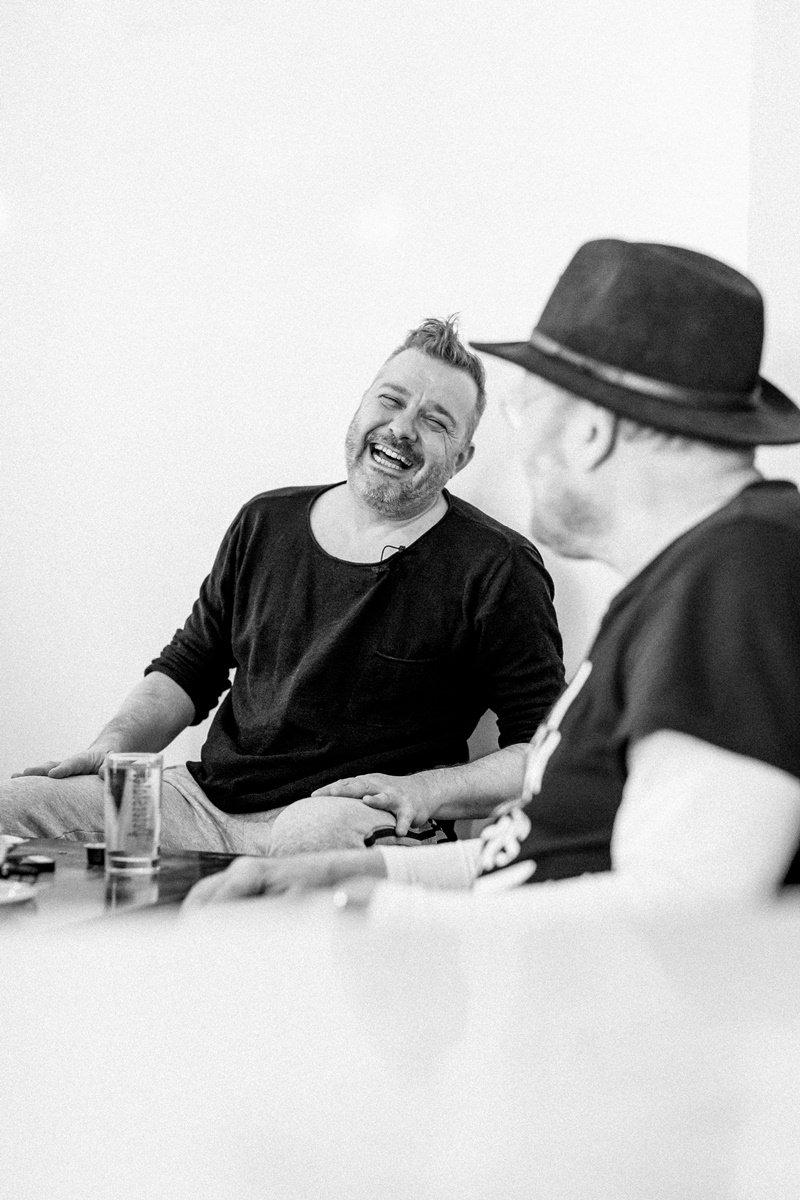 Interviewfoto von den Kölner Musikern Franz Martin Willizil und Martin Bechler