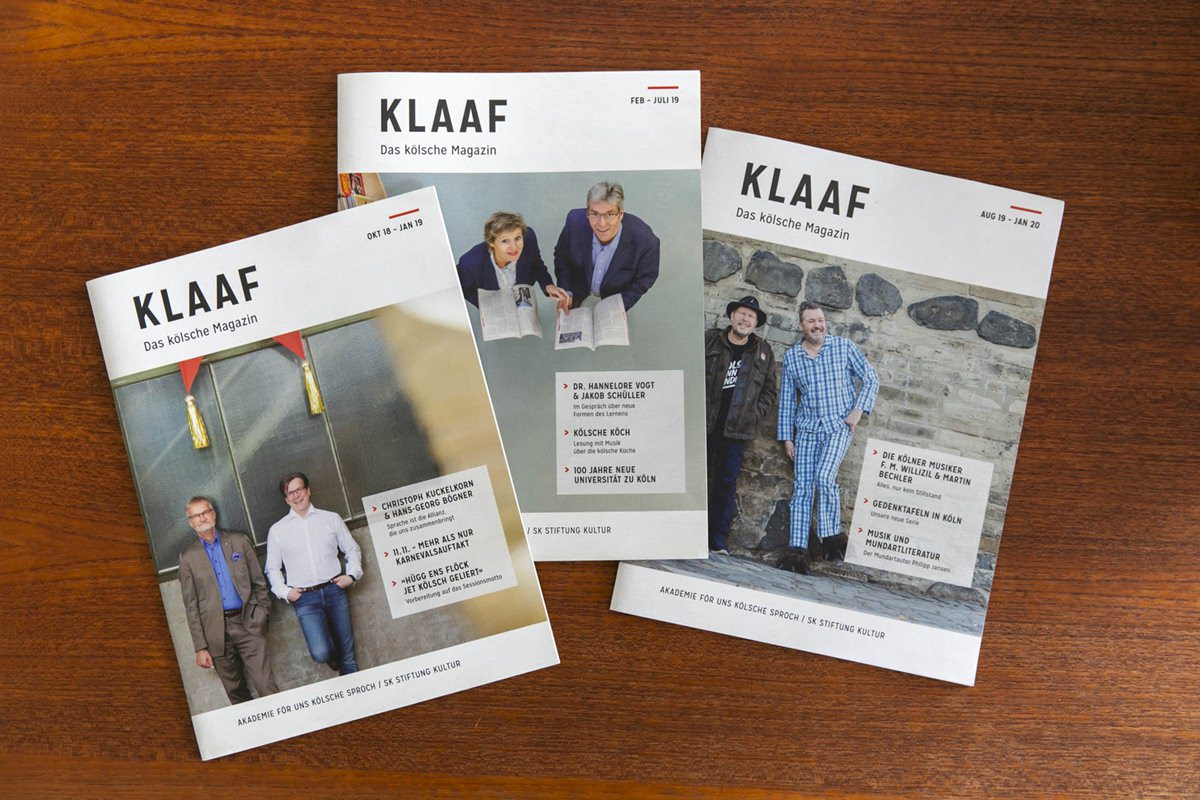 3 Titelbilder des Kölner Magazins KLAAF