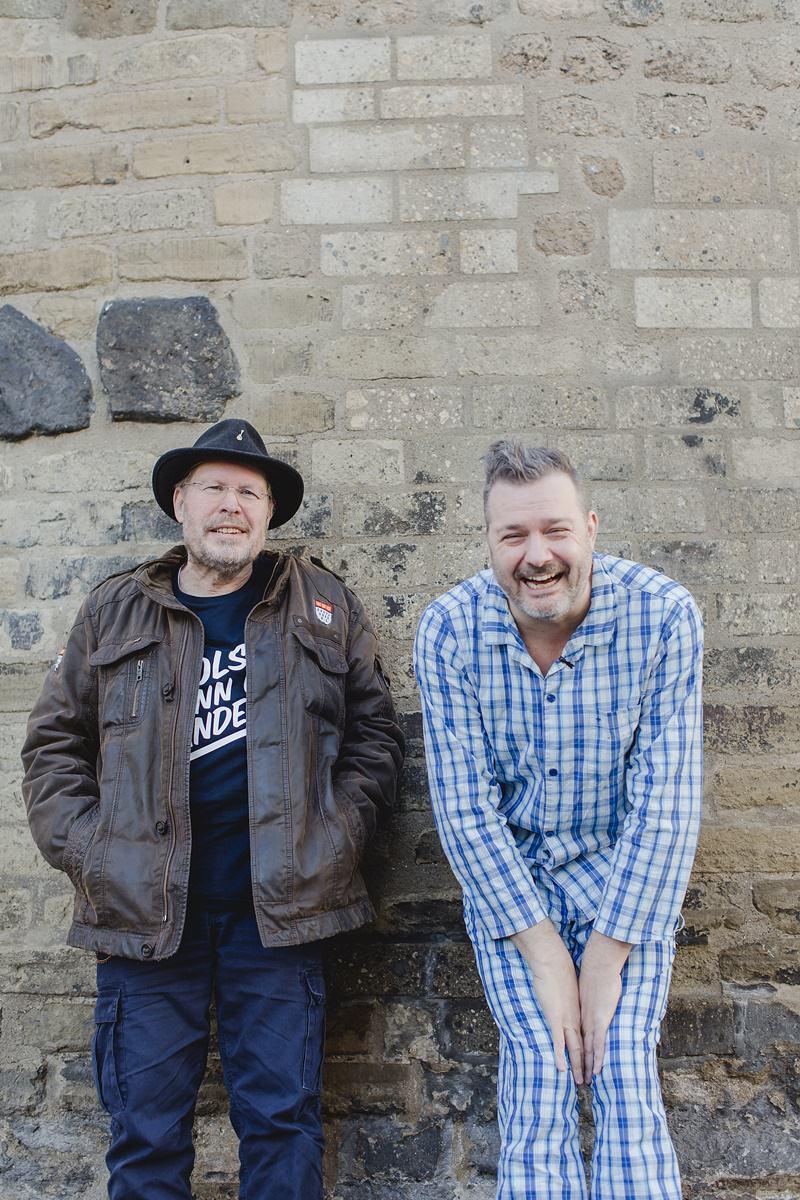Portraitfoto der Kölner Musiker Martin Bechler und Franz Martin Willizil für das Klaaf Magazin