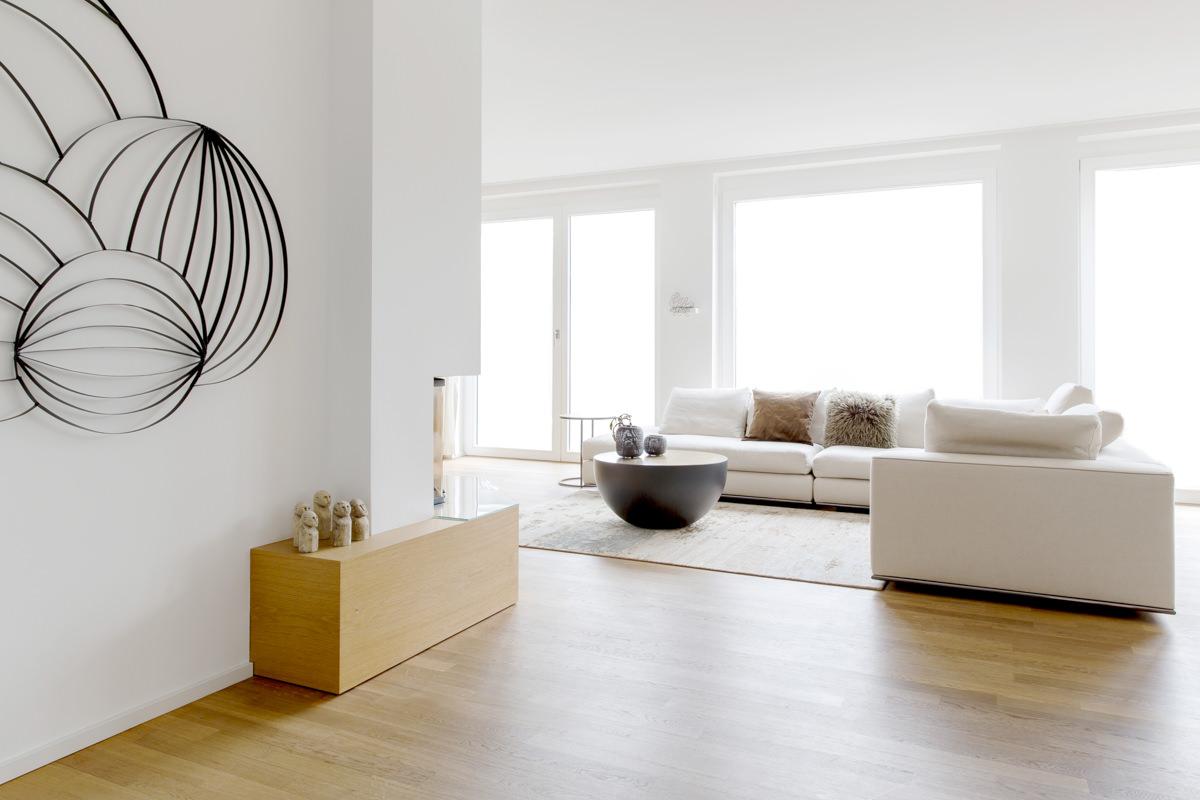 Interieurfoto eines modernisierten Wohnzimmers