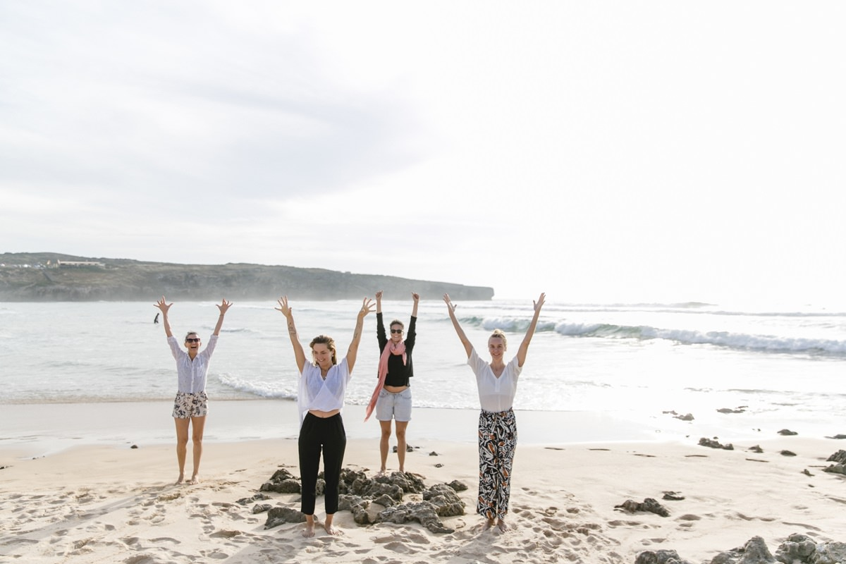 Foto Yoga Wellness am Strand von Portugal