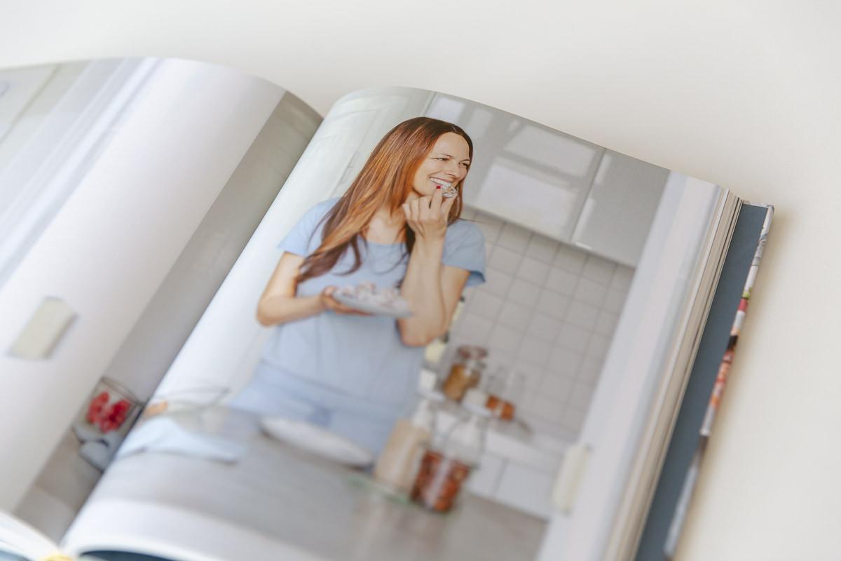 aufgeschlagene Seite im Kochbuch My healthy happy family von Foodbloggerin Sandra Ludes