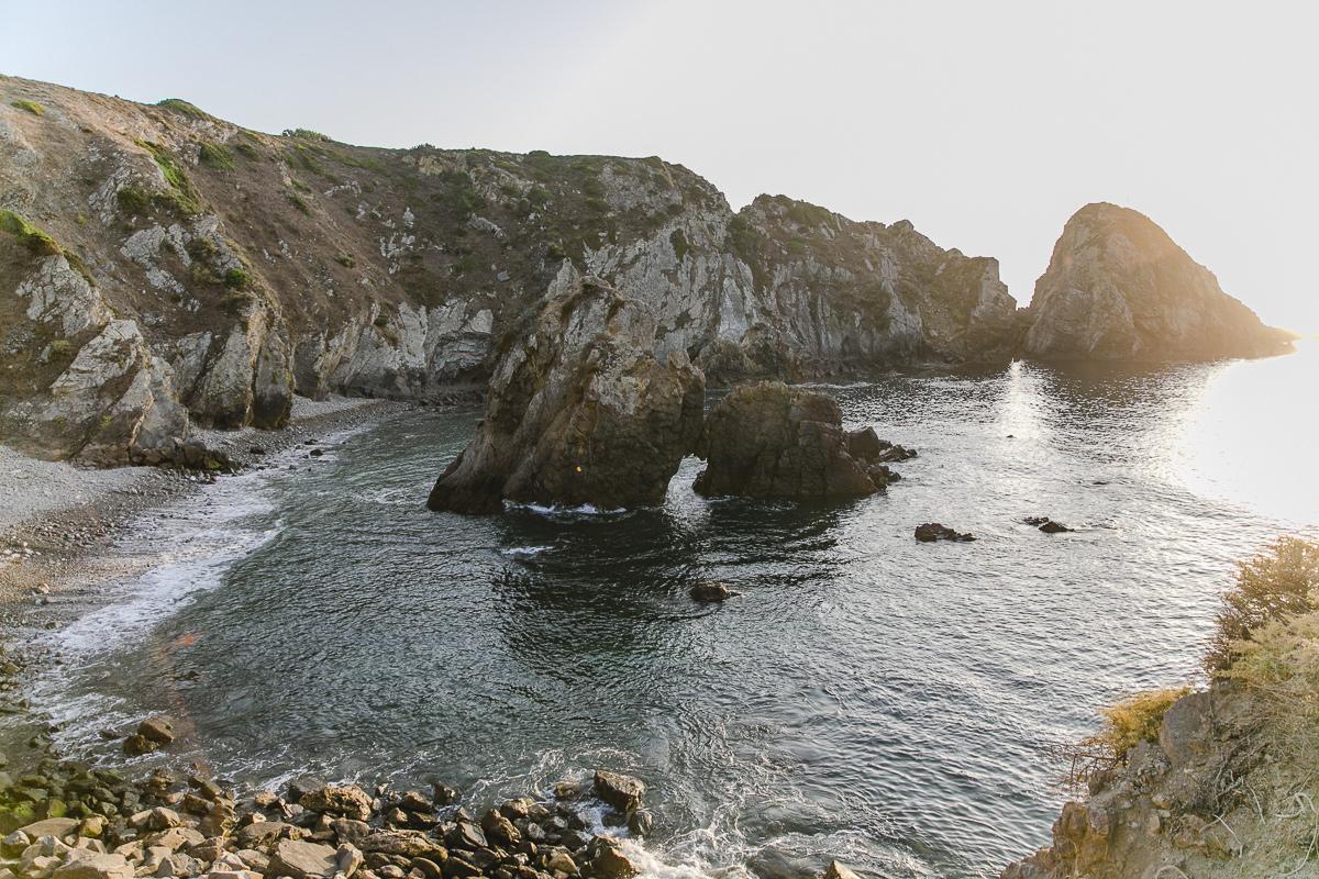 Meeresküste in Portugal bei Sonnenaufgang