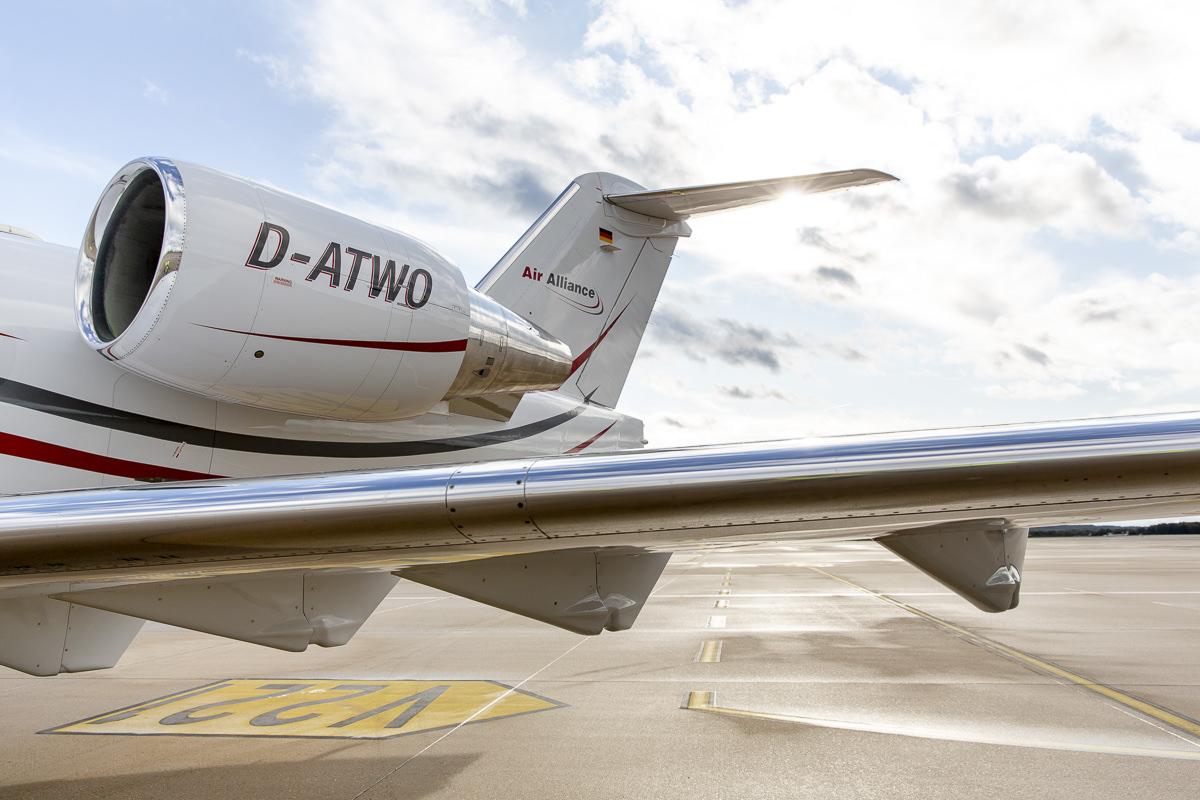 Corporate Foto eines Flugzeugs der Firma Air Alliance Medflight GmbH | fotografiert von Hanna Witte
