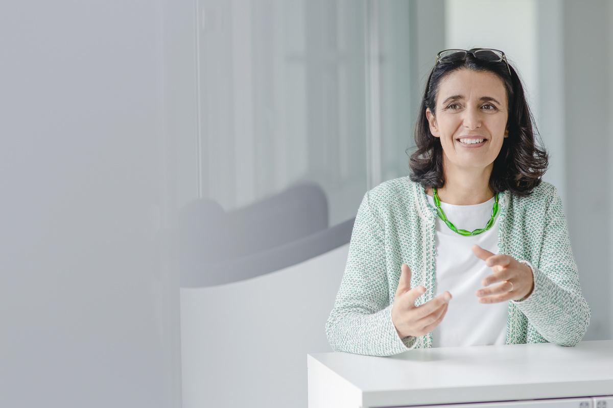 Mitarbeiterportrait einer Angestellten der Venture Capital-Fonds Firma coparion | Foto: Hanna Witte