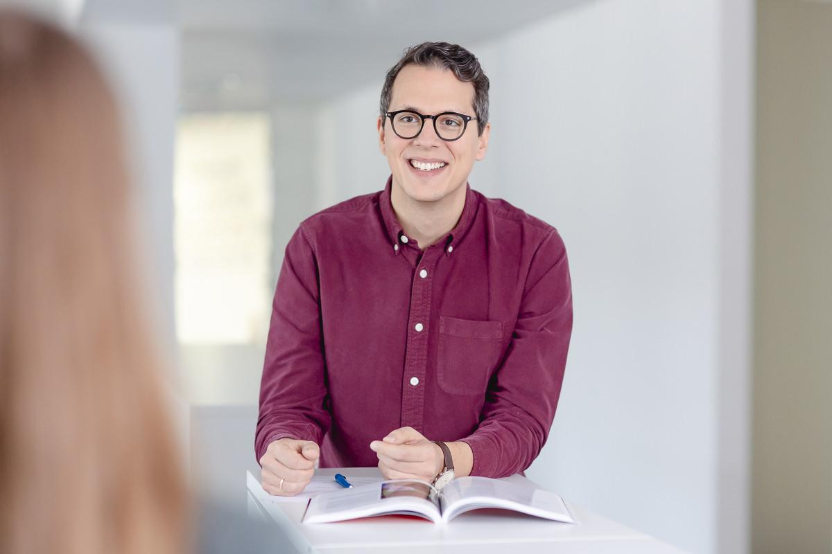 Mitarbeiterfoto eines Angestellten der Venture Capital-Fonds Firma coparion | Foto: Hanna Witte