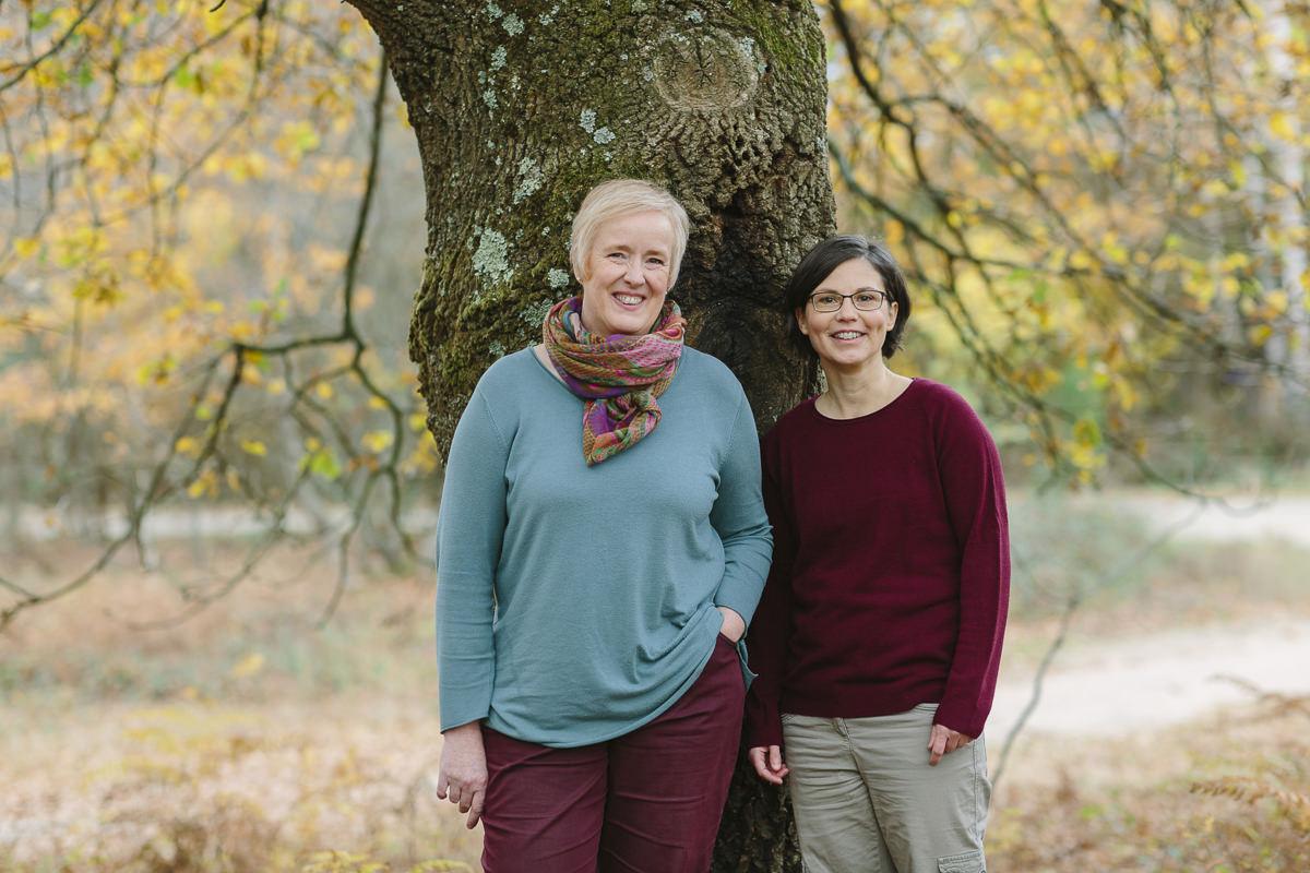 Outdoor Portraitfoto der Inhaberinnen der Pflasterfüchse   Foto: Hanna Witte